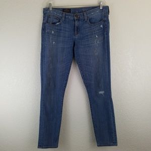 J. Crew TOOTHPICK Distressed Light Skinny Jeans A9
